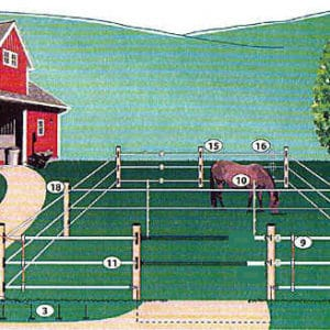 Horse Fence Starter Product Bundle (150 foot per side)